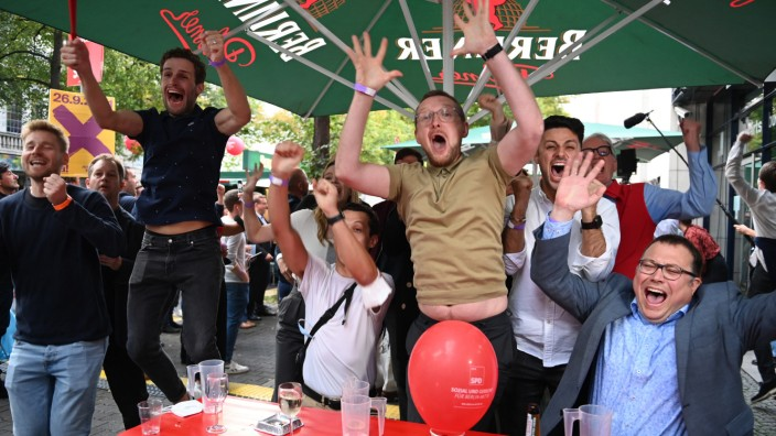 Bundestagswahl - Wahlparty SPD