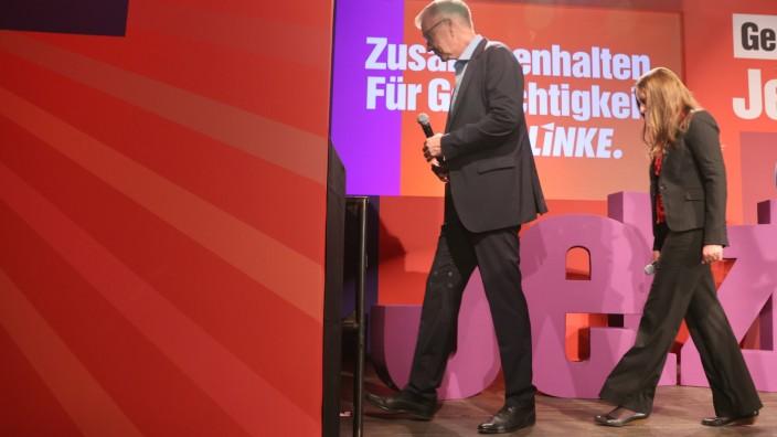 Janine Wissler und Dietmar Bartsch waren die Spitzenkandidaten der Partei Die Linke. Für sie gab es am Wahlabend wenig Grund zu feiern.