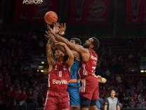Basketball, BBL, 20210926, FC Bayern München - Ratiopharm Ulm. Im Bild Nick WEILER-BABB (FC Bayern München, 0), Cristia