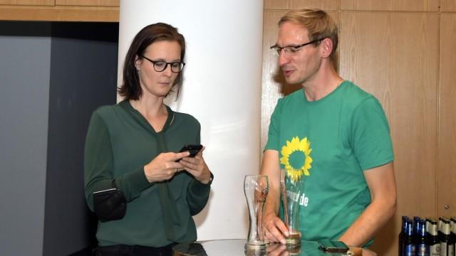 Wahlabend: Annett Burgarth und Stefan Herbasch.