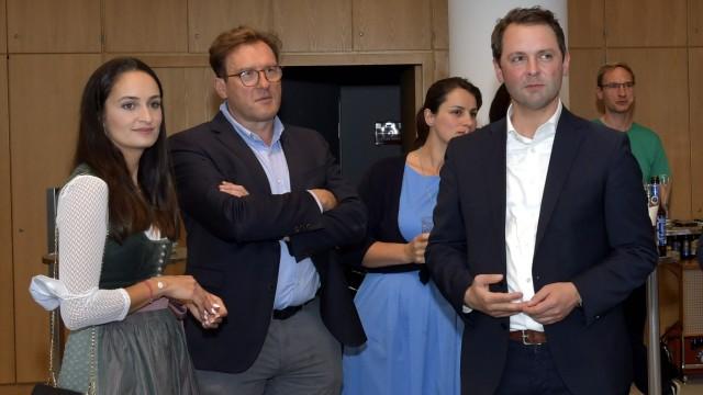 Wahlabend: Caroline Brielmair und Thomas Bauer.