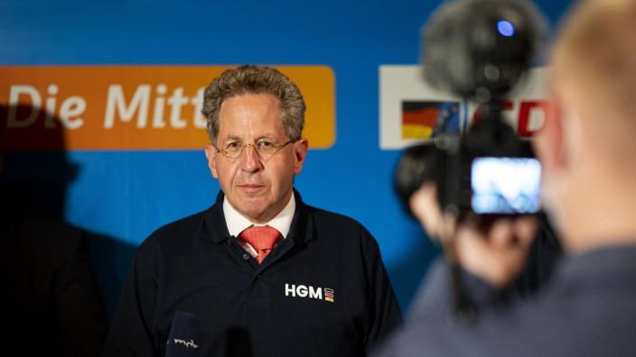 BUNDESTAGSWAHL 2021 - CDU SUHL 26/09/2021 - Zella-Mehlis: Pressestatement von Hans-Georg Maaßen (CDU) nach den Ergebnis