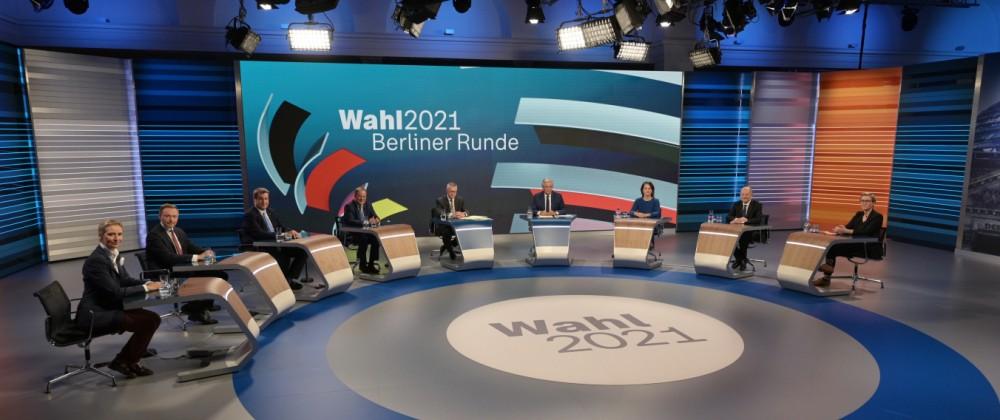 Bundestagswahl - 'Berliner Runde' beim ZDF