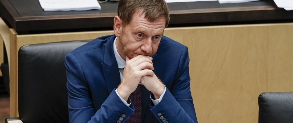 1008. Bundesratssitzung in Berlin Aktuell, 17.09.2021, Berlin, Ministerpraesident Michael Kretschmer (CDU) von Sachsen