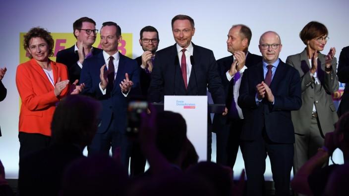 FDP-Spitzenpolitiker nach der Bundestagswahl 2021