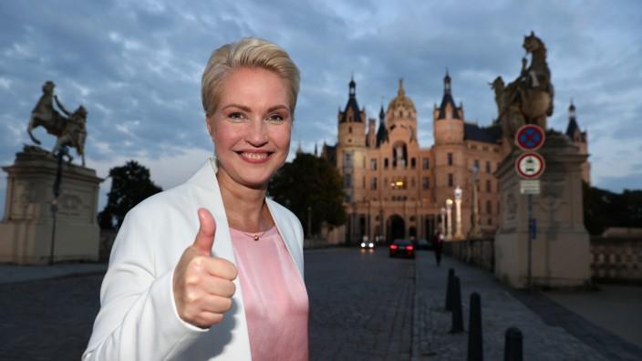 Landtagswahl MV - Schwesig SPD