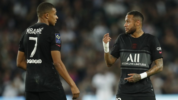 Ligue 1: PSG-Spieler Neymar und Kylian Mbappé