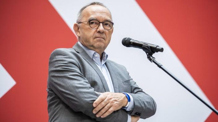 Norbert Walter-Borjans, Bundesvorsitzender der SPD, aufgenommen im Rahmen einer Pressekonferenz im Willy-Brandt-Haus in