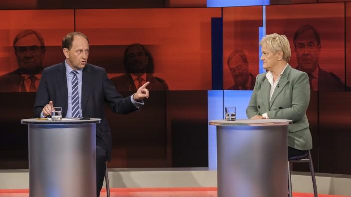 """Titel: âÄžNach der Wahl, vor dem Machtpoker: Wird aus dem Sieger auch ein Kanzler?'; """"hart aber fair"""",am Montag, 27. September 2021"""