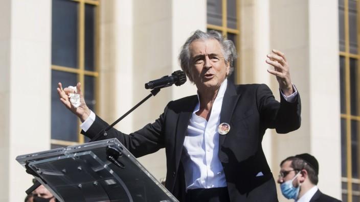 Der Philosoph Bernard-Henri Lévy im April 2021 in Paris
