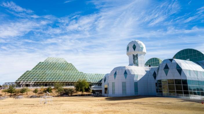 """""""Biosphere 2"""": Die Anlage """"Biosphere 2"""" ist etwa zwei Fußballfelder groß, sie gehört heute der University of Arizona."""