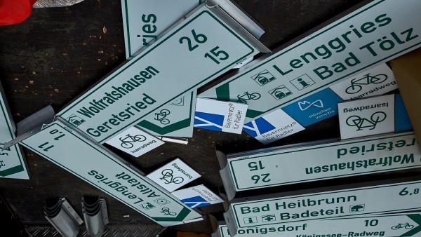 Radfahrwege Hinweise