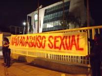 June 7, 2021, Rio de Janeiro, Brazil: Protest in front of headquarters of CBF (Brazilian Soccer Confederation) in Barra; Rogerio Caboclo