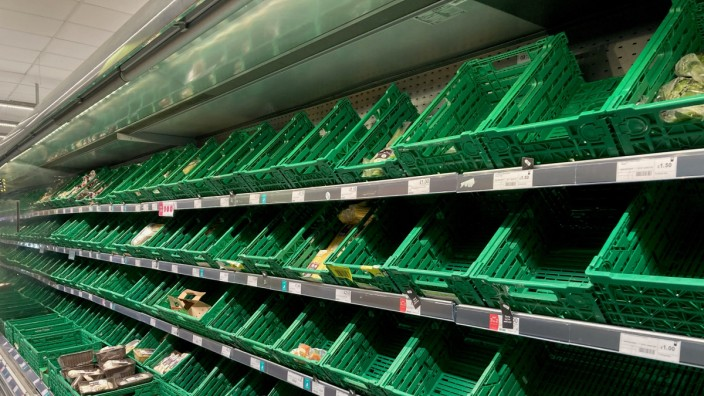 Probleme bei der Versorgung der Supermärkte