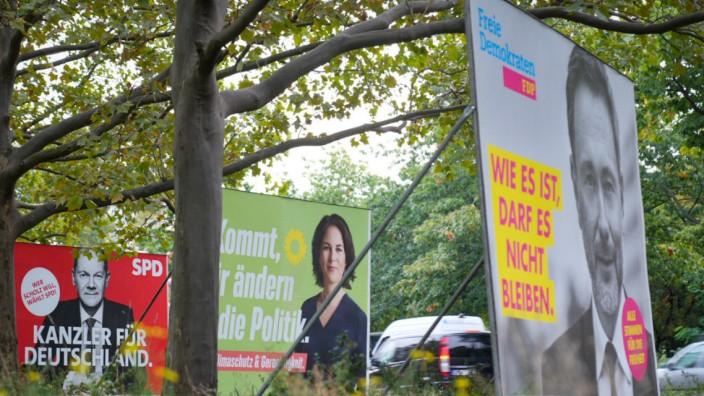 Nach der Bundestagswahl - Wahlplakate