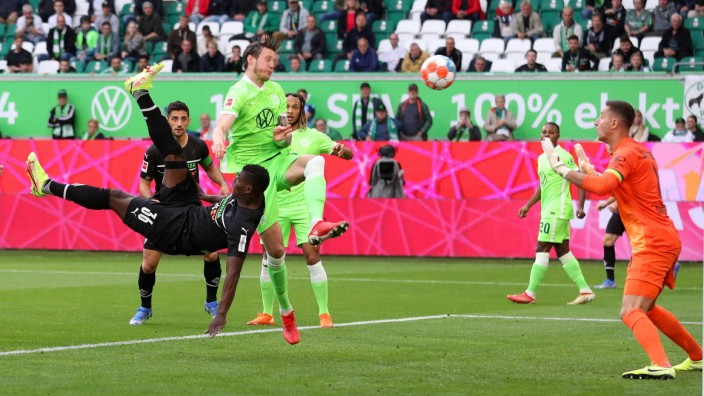 VfL vs. MÂ gladbach, 1. BL Wolfsburg, 02.10.2021, FUßBALL - VfL Wolfsburg vs. Borussia Mönchengladbach, 1. BL, Saison 2