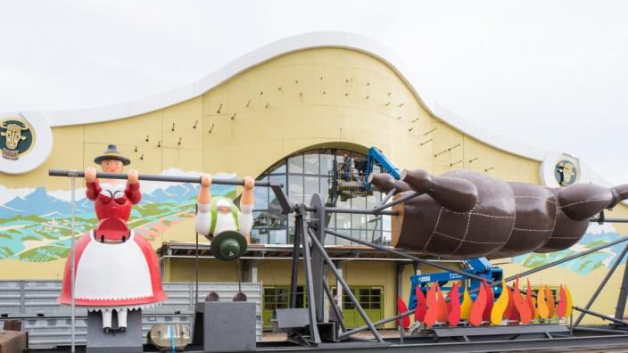 Abbau des Oktoberfests in München, 2019