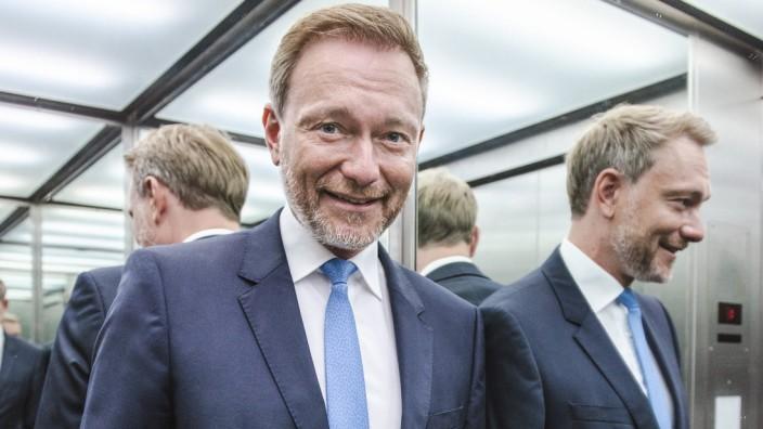 Christian Lindner Editorial 11.08.2021, Berlin. FDP-Vorsitzender Christian Lindner im Tagesspiegel Interview zu Gast im