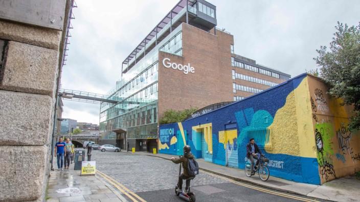 Mindeststeuer: Der Google-Campus in Dublin ist einer der größten Konzernstandorte außerhalb der USA und auch als Adresse im Impressum von Google.de angegeben: 2000 Mitarbeiter sind hier beschäftigt, auch weil die Steuerbedingungen in Irland so attraktiv sind.