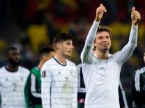 08.10.2021, xfrx, Fussball FIFA WM-Qualifikation 2022, Deutschland - Rumänien emspor, v.l. Thomas Mueller (Deutschland)