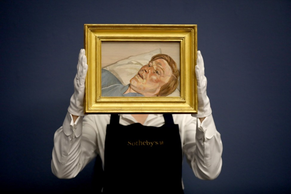 BESTPIX: Preview of Sotheby's Contemporary Art Exhibition Ahead of Major Auction During Frieze Week