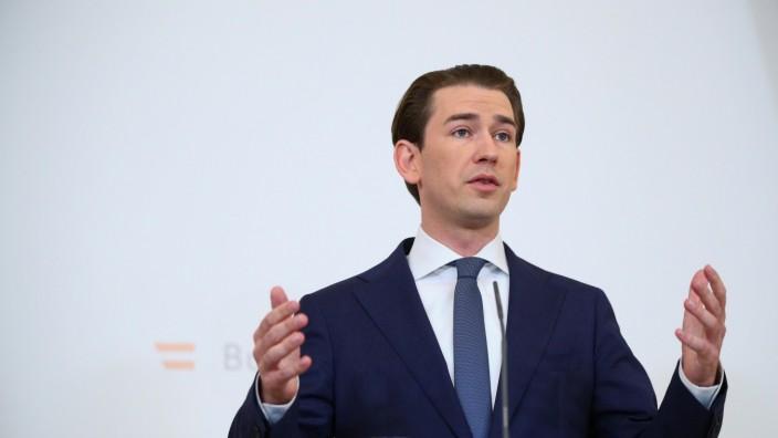 Austria's Chancellor Kurz gives statement in Vienna