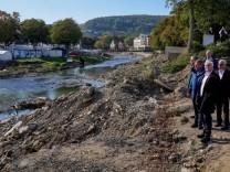 German President Frank-Walter Steinmeier visits the flood-affected region in Ahrweiler