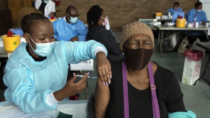 Corona-Impfung in Südafrika