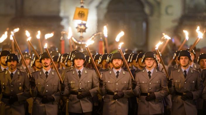 Großer Zapfenstreich der Bundeswehr in Dresden