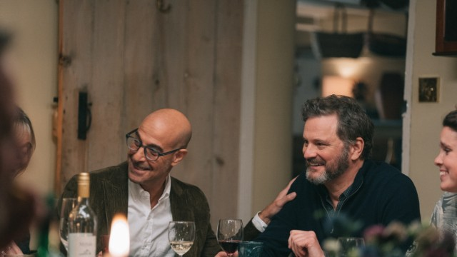 """""""Supernova"""" im Kino: Die Chemie zwischen Stanley Tucci und Colin Firth stimmt, vielleicht weil sich die beiden auch privat schon länger kennen."""