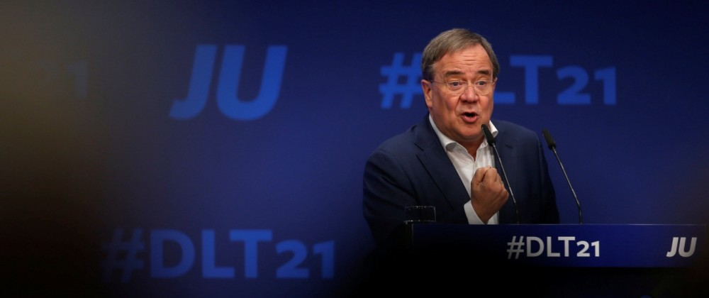 CDU party leader Armin Laschet speaks in Muenster