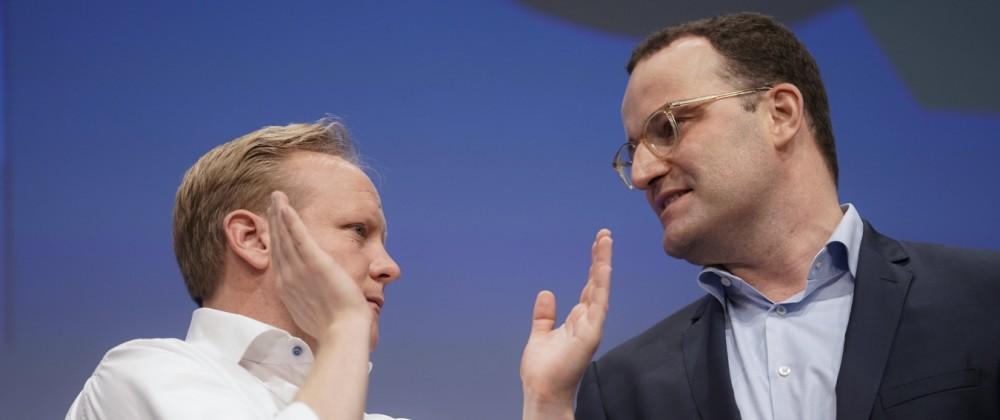 Deutschlandtag der Jungen Union Deutschlands Aktuell, 16.10.2021, Muenster, Jens Spahn Mitglied des Bundestag Bundesmin