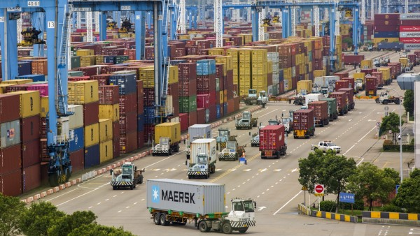 (211002) -- BEIJING, Oct. 2, 2021 -- Photo taken on Aug. 15, 2021 shows a view of the Ningbo-Zhoushan Port in east China