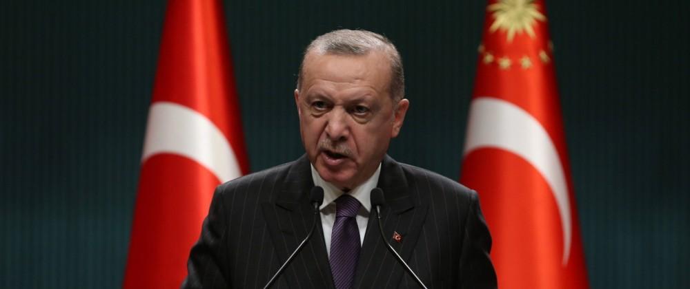 Turkey s President Recep Tayyip Erdogan, makes statements after chairing cabinet meeting in Ankara, Turkey on December