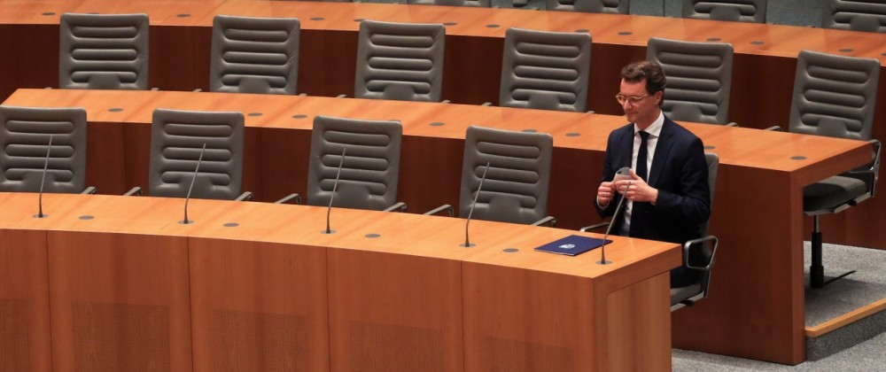 Hendrik Wuest is sworn in as State Premier of NRW in Duesseldorf