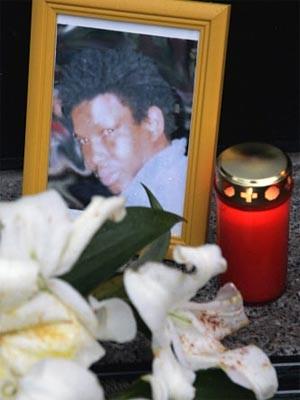 Gedenken an Oury Jalloh, dpa