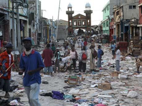 Zerstörtes Viertel in Port-au-Prince, AFP