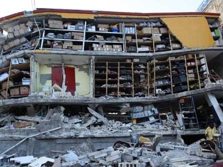 Haus ohne Wände in Port-au-Prince, AFP
