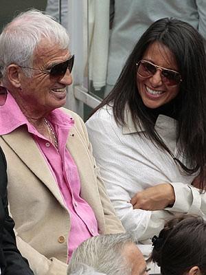 Jean Paul Belmondo, Barbara Gandolfi; AFP