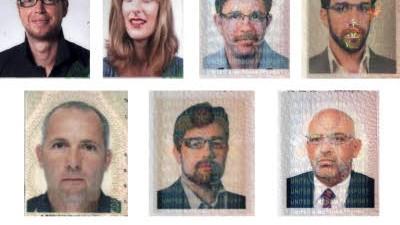 Mord in Dubai: Passbilder der Verdächtigen: Sicherheitsexperten gehen davon aus, dass die Dokumente gefälscht waren.