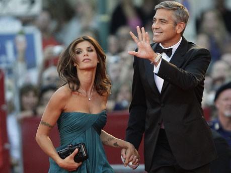 George Clooney und Elisabetta Canalis; Reuters