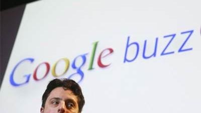 Google Buzz: Google-Gründer Sergey Brin bei der Buzz-Vorstellung: Zurück in der Welt der sozialen Netzwerke