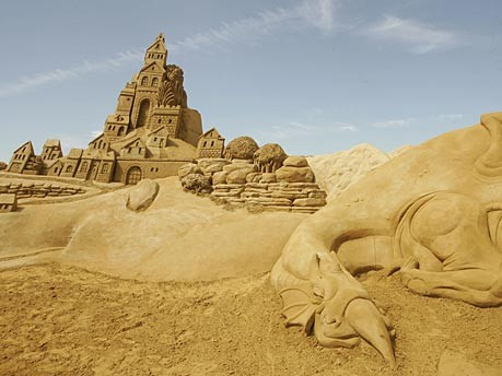 Sandskulpturenfestival Blankenberge Belgien, Getty