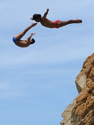 Klippenspringer in Acapulco, AFP