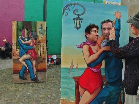 Beim Tango kommen sich Tänzer in der argentinischen Hauptstadt Buenos Aires nah. Ganz nah.