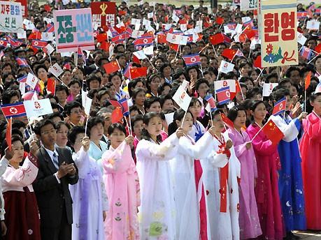 Olympisches Feuer in Pjöngjang