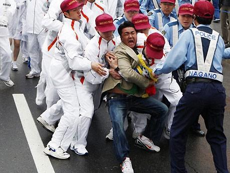 Demonstrant in Nagano