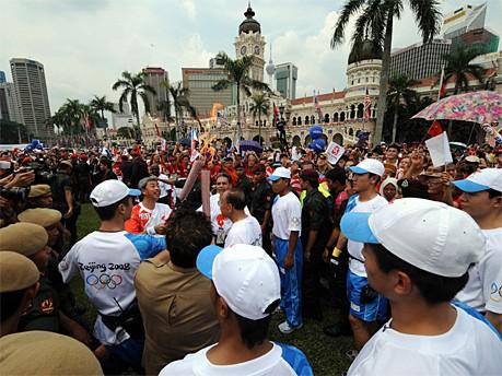 Fackellauf in Kuala Lumpur AFP