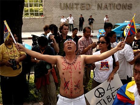 Fackellauf in Bangkok; AFP