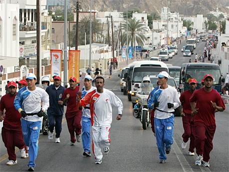 Fackellauf in Oman; AFP